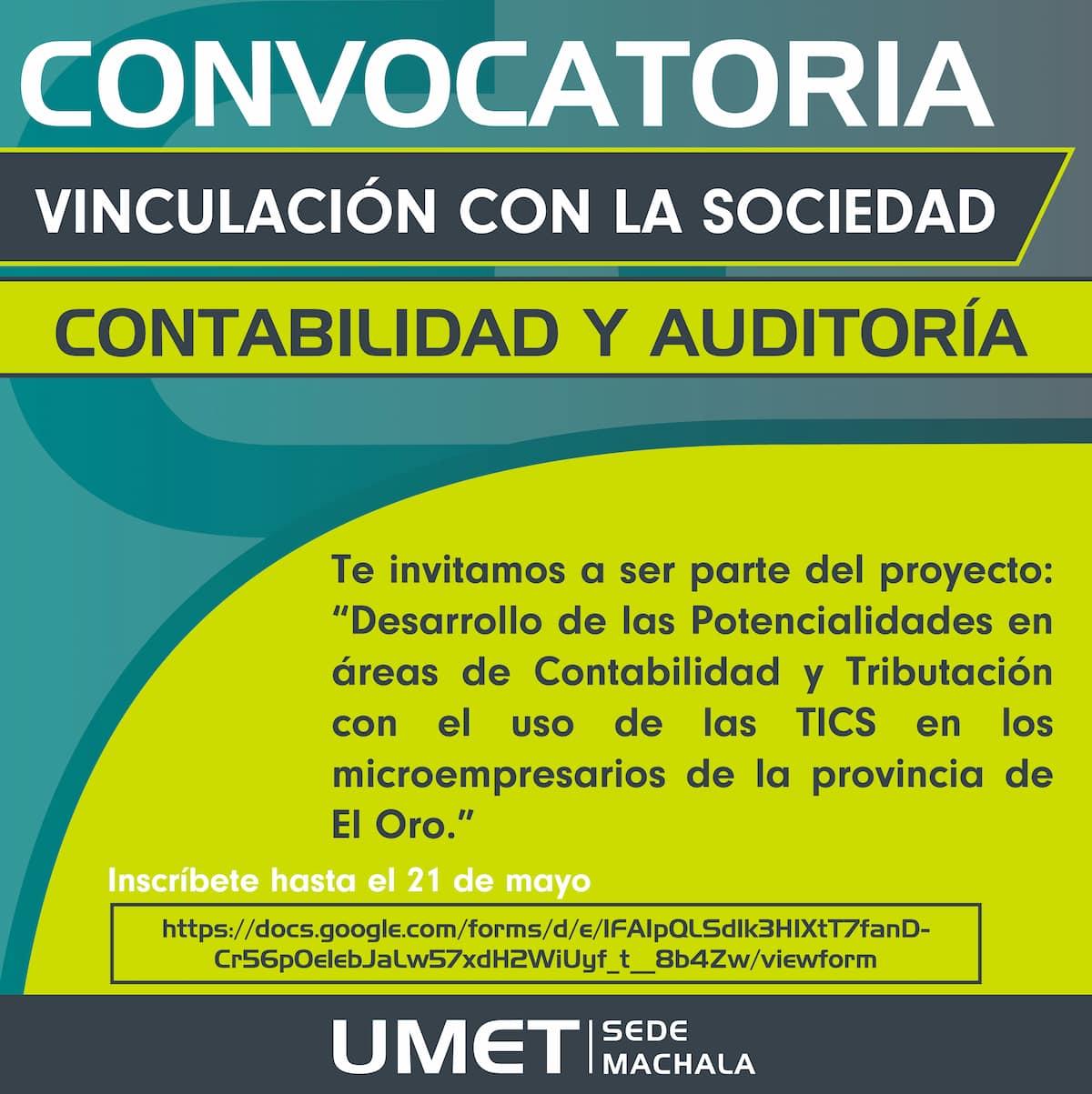 Convocatoria dirigida a los estudiantes de la UMET